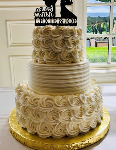 Christine's Cakes & Pastries - 3 Tier-Buttercream hand piped rosette detail