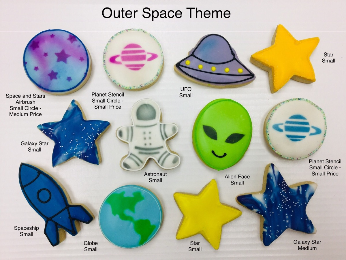 Christine's Cakes & Pastries - Outer Space Theme(all sizes)