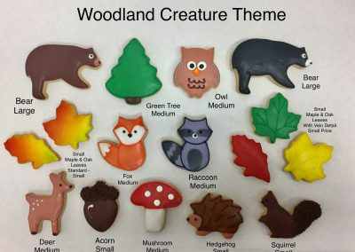 Christine's Cakes & Pastries - Woodland Creatures Theme(all sizes)
