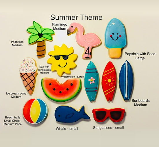 Christine's Cakes & Pastries - Summer Theme Hand Decorated Butter Cookies